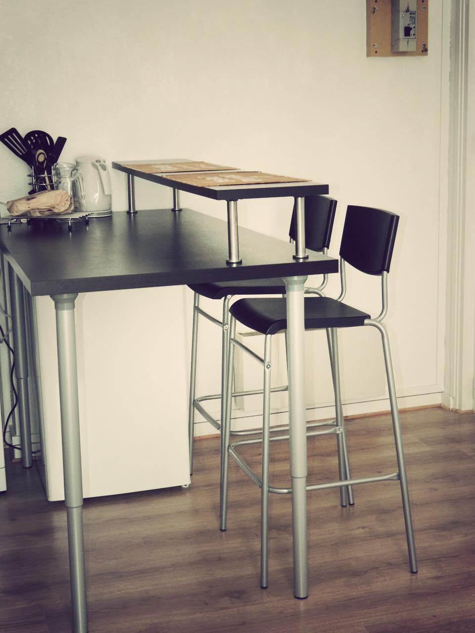 Table Avec Rallonge Pas Cher Bar D'appartement Ikea – Table De Lit