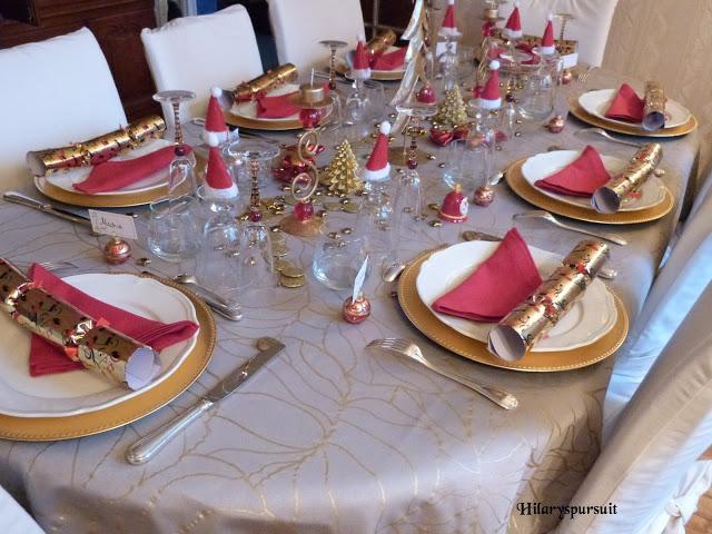 Nappe Eurodif [spécial Fêtes] Table De Noël D'or Ou Table De Noël D