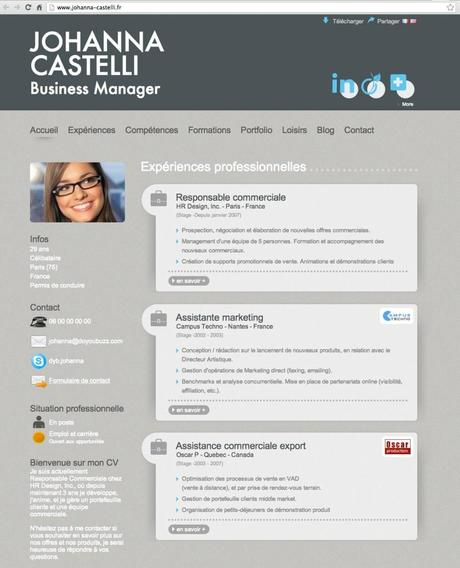 cv do you buzz exemple receptionniste