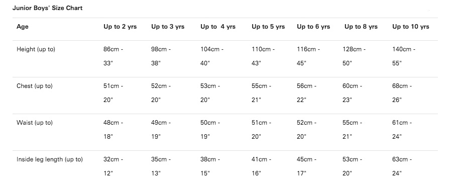 Paul Smith Clothing Size Guides - Paul Smith