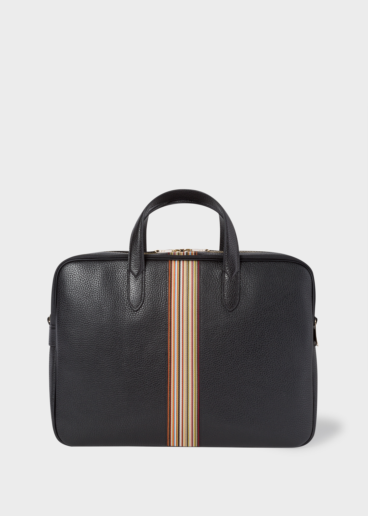 Porte Document Cuir Homme Porte Documents Homme Signature Stripe Noir En Cuir