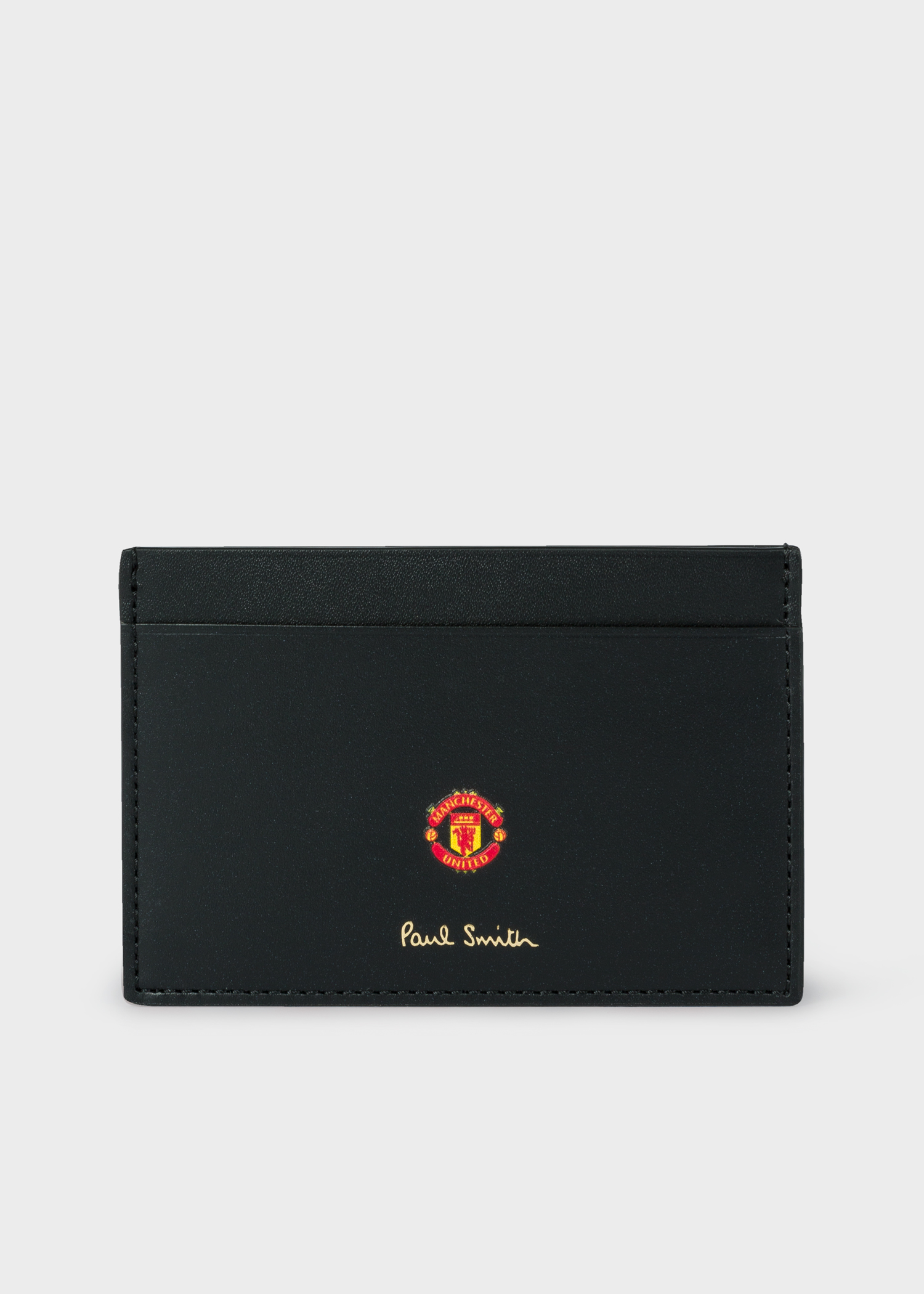 United Credit Card Customer Service Paul Smith Manchester United Men S Vintage Rosette Print Leather Credit Card Holder