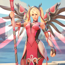 Breast Cancer 3d Wallpaper For Pc Overwatch Pink Mercy Skin Raised 12 7m For Breast Cancer