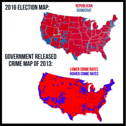 Image result for crime vs hillary voting