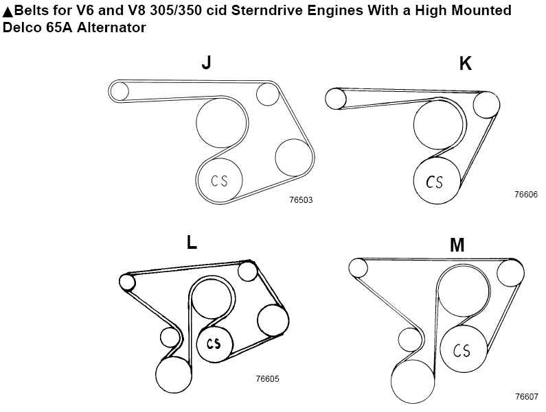 350 mercruiser engine belt pulleys diagram