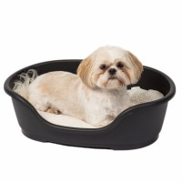Ruffer and Tuffer Hard Plastic Dog Bed Black | Pets At Home