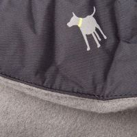 Pets at Home Fleece Twill Dog Coat Black XX Small | Pets ...