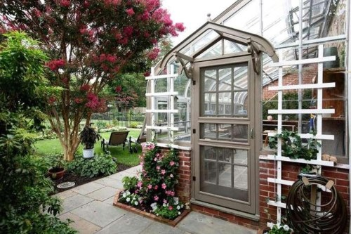 Medium Of Greenhouse Attached To House