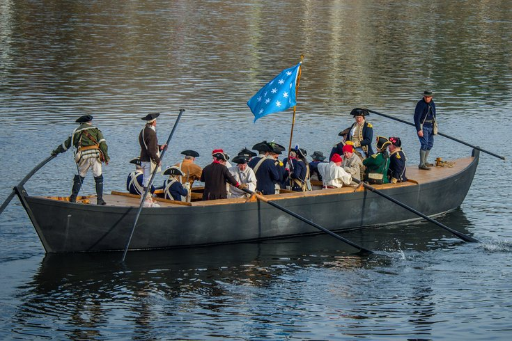 Christmas Day, watch a reenactment of when Washington crossed the