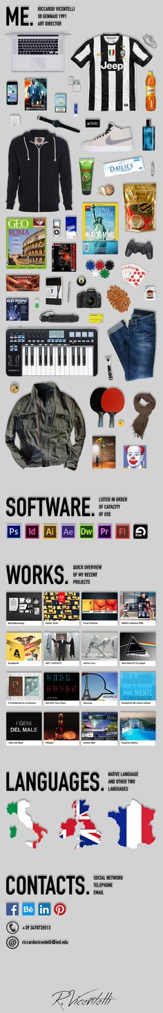 9 best Cv Infografico Italiani images on Pinterest Curriculum - makeup artist resume template