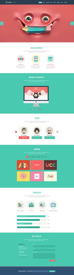 22 best Flat UI Wordpress Themes images on Pinterest Animation - cv resume builder