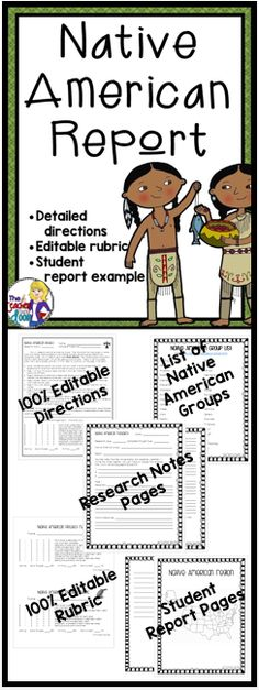 141 best Native American Report Common Core images on Pinterest - project report
