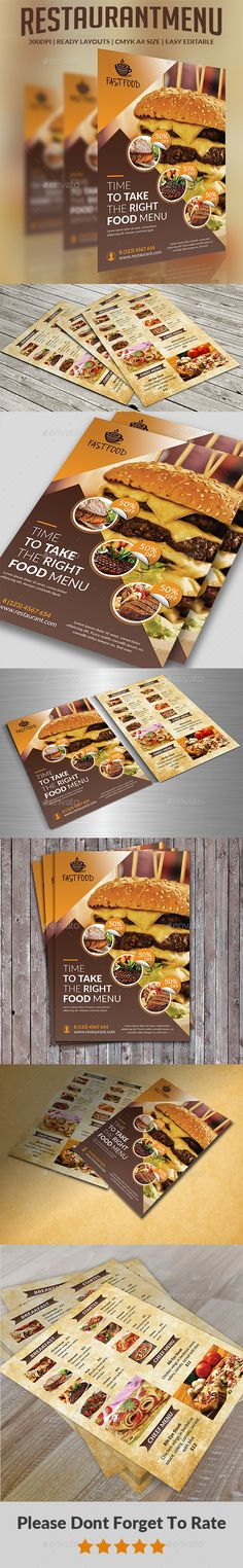 960 best Food menu images on Pinterest Menu templates - restaurant menu design templates