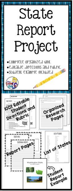 128 best State Report Project images on Pinterest 4th grade - training report