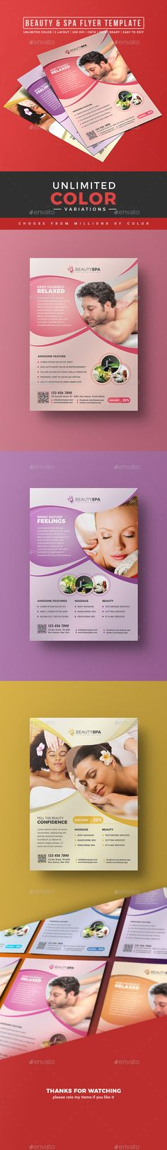 107 best Spa Flyer images on Pinterest Font logo, Fonts and - advertisement flyer template