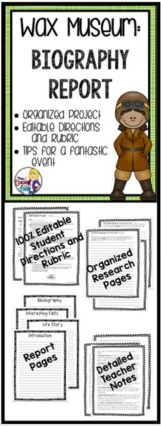 166 best Wax Museum Biography Project images on Pinterest - how to create a report