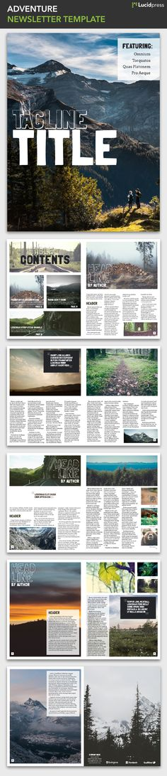 28 best Free Magazine \ Newsletter Templates images on Pinterest - newsletter template for word