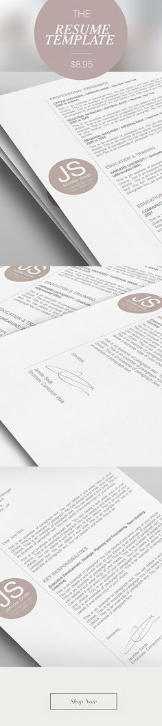16 best CV Templates - Elegant images on Pinterest Resume - 3 page resume