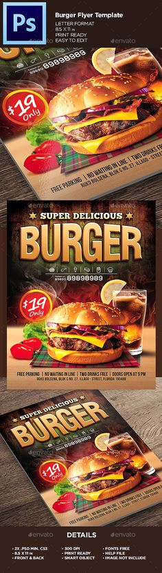 127 best Burger Flyer images on Pinterest Flyer design, Flyer - coffee shop brochure template