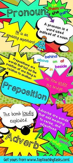 130 best Parts of Speech Resources images on Pinterest English - informative speech