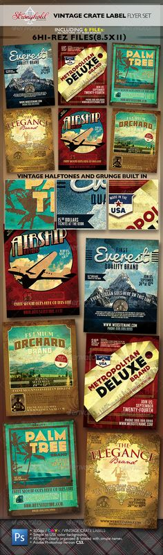 140 best Vintage Flyers images on Pinterest Flyer design, Font - free po template