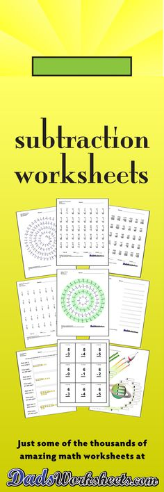 114 best Subtraction Worksheets images on Pinterest Subtraction - subtraction table