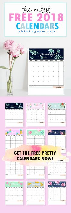 172 best Best of 2018 Calendars and Planners images on Pinterest - family agenda