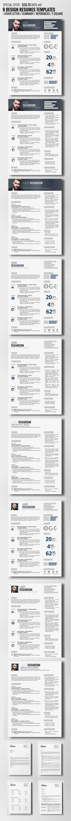 435 best Resume images on Pinterest Resume design, Design resume - free eye catching resume templates