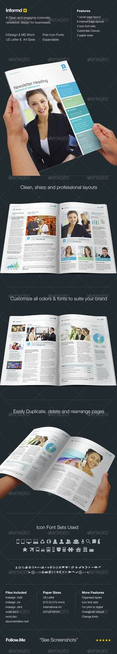 215 best NewsLetter Template images on Pinterest Font logo - free school newsletter templates for word