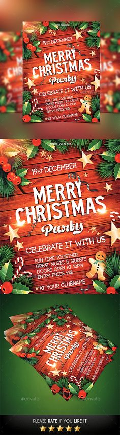 366 best Christmas \/ New Yearu0027s \/ Winter Graphics images on - event flyer