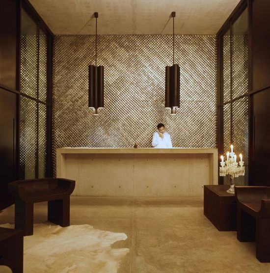 210 best reception    counter images on Pinterest Advertising - concrete wall design example