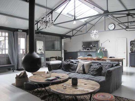 115 best Loft dreams images on Pinterest Industrial style - deco maison avec poutre