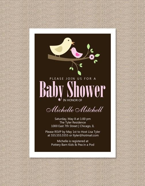 106 best Baby Shower - girl little bird theme images on Pinterest - retirement invitation