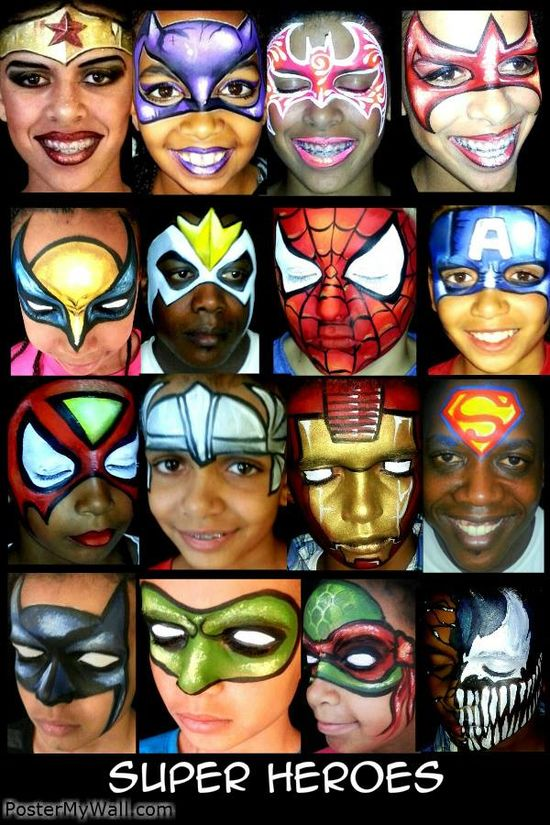 110 best Face paint heroes and villains images on Pinterest Face - free printable face masks