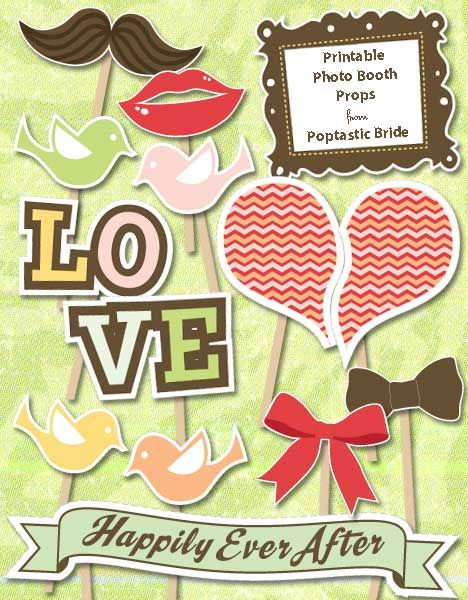 117 best Photo booth props images on Pinterest Photo booths - free printable wedding guest list