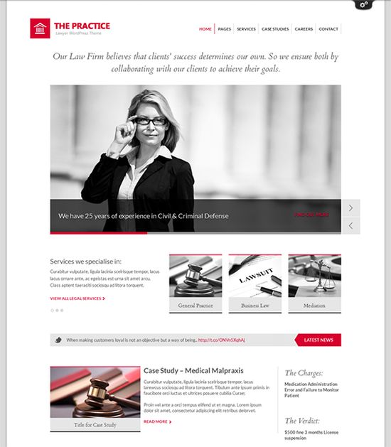 9 best 9 of the Best WordPress Themes for Lawyers \ Law Firms - wordpress resume themes