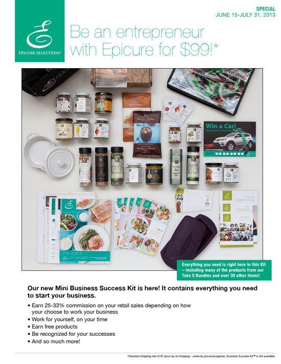9 best July 2013 Epicure monthly specials images on Pinterest - sales brochure