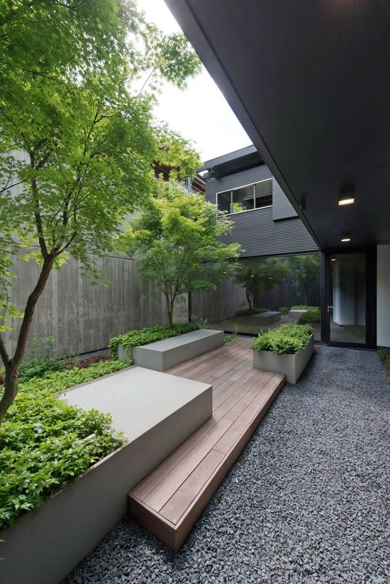 1465 best Garden Inspiration images on Pinterest Small gardens - concrete wall design example