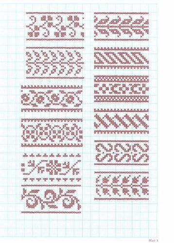 2815 best Motifs and ornaments images on Pinterest Cross stitch - baby size chart template