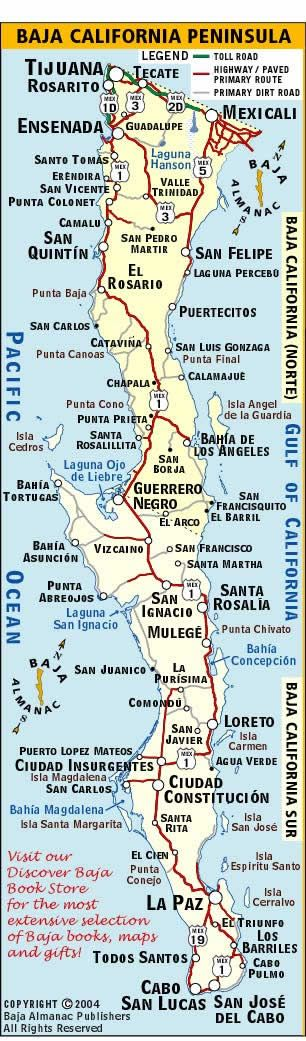 11 best Maps of Baja images on Pinterest Hotels, La paz and - blank road map