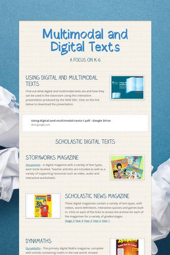 23 Best Multimodal Texts Images On Pinterest Classroom Ideas