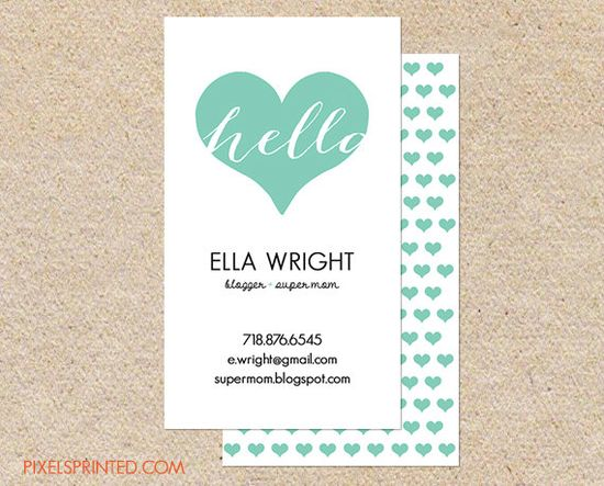 156 best Business Cards images on Pinterest Business card design - resume on cardstock