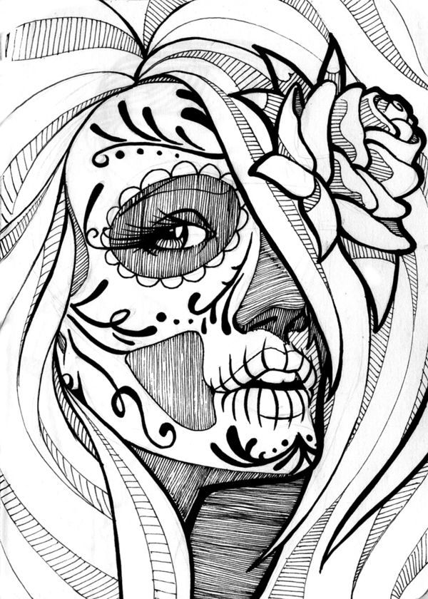 400 best Coloring Pages images on Pinterest Coloring books - fresh day of the dead mandala coloring pages