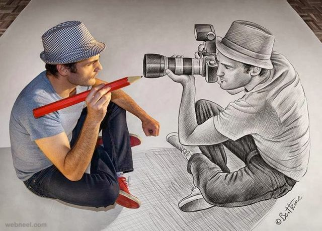 215 best 3D Drawings images on Pinterest 3d pencil drawings - lined papers