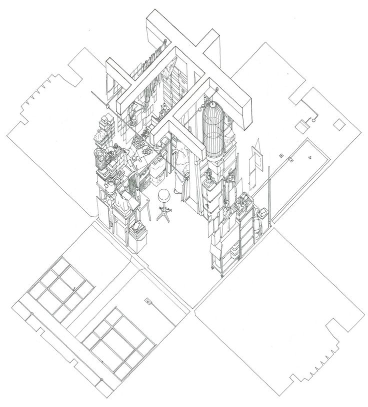 109 best Axonometric drawings images on Pinterest Architecture - printable lined paper sample