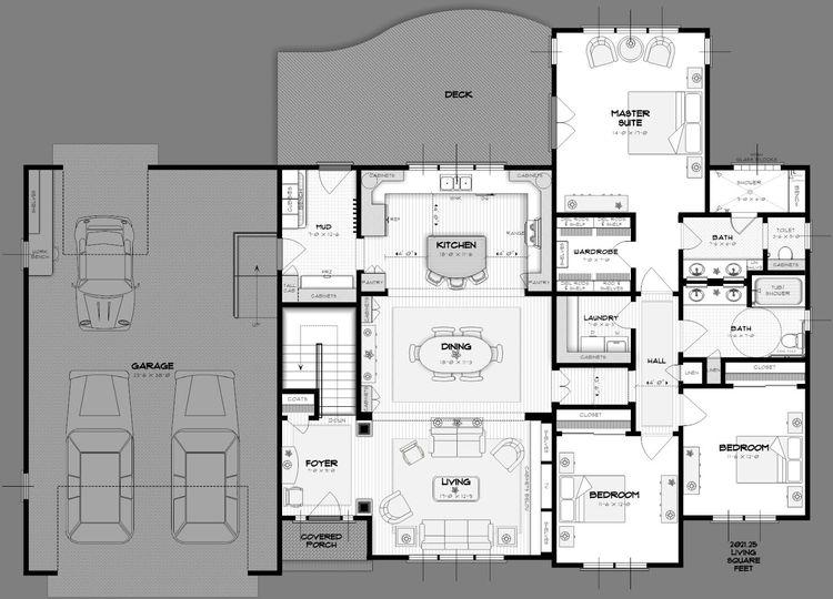 16 best Floor Plan images on Pinterest Floor plans, Home plans and - plan de maison avec patio