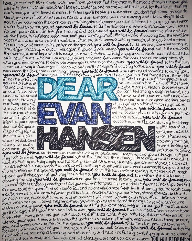 610 Best Dear Evan Hansen Images On Pinterest Ben Platt, Musical   Character  Reference Letter  Character Reference Letter For Rental