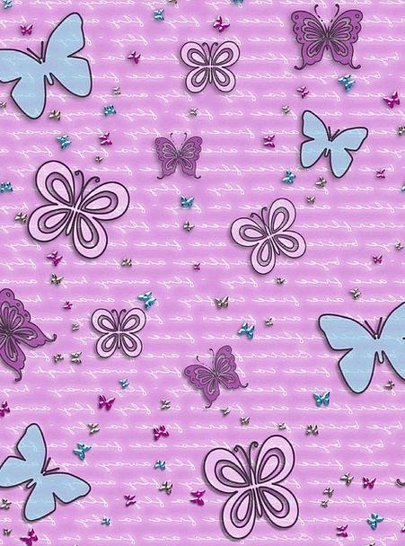 Butterflies, Nerves, Textures, Contextual, Backgrounds, Purple