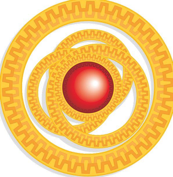 Red, Bloodshot, Animation, Orange, Carroty, Cartoon, Circles, Rings
