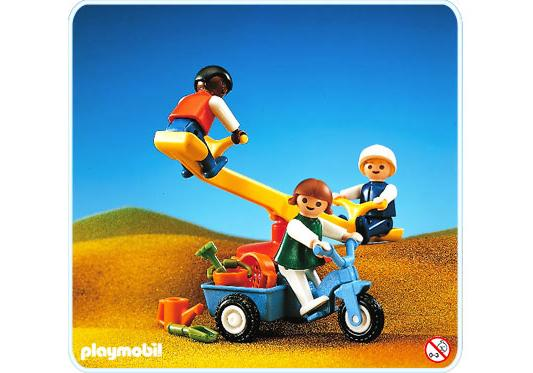 Kinder Wippe 3 Enfants+balançoire+tricycle - 3308-a - Playmobil® France